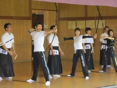 第66回 ふくやまスポーツ祭 弓道 試合風景