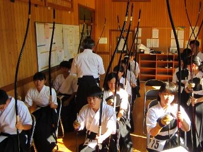 第66回 ふくやまスポーツ祭 弓道 控え風景