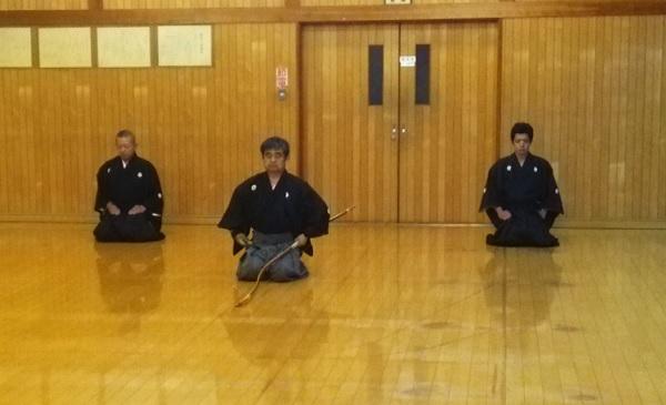 弓道教室矢渡し
